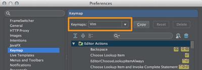 図3 「Preferences / Keymap」設定画面