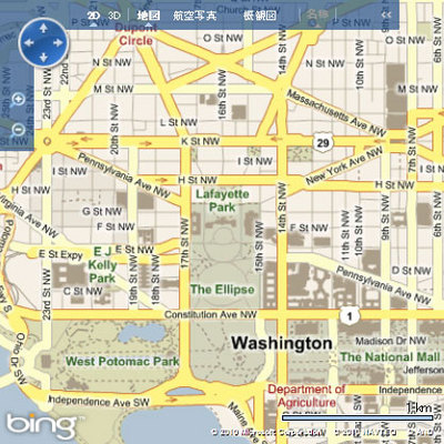 図4 Bing Maps AJAX Control 6.3