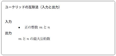 図1 ユークリッドの互除法(入力と出力)