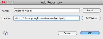 Androidプラグインの入手先追加
