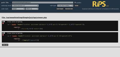 図9 SimpleQuiz - JavaScriptインジェクション