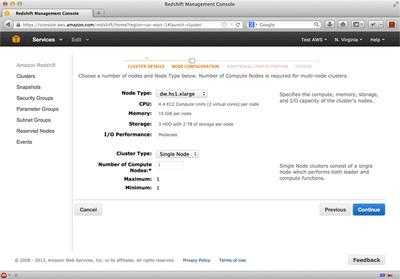 図5 Redshiftクラスタ起動設定(2)