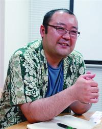 代表取締役社長の深水英一郎さん まぐまぐ開発者としても有名