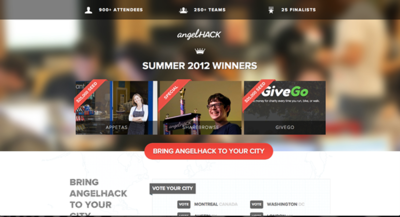 Prize winner of the 2012 AngelHack Summer