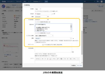 図4 JIRAの作業開始画面