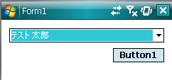 図1 Windows Mobile 6.xで取得した連絡先をComboBoxへバインディング
