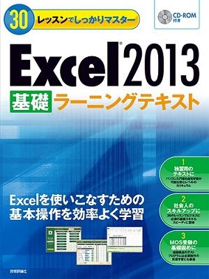 30レッスンでしっかりマスター Excel 2013 [基礎]ラーニングテキスト