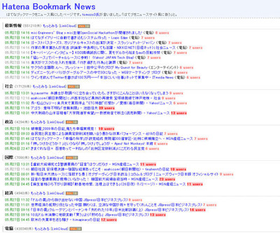 Hatena Bookmark News