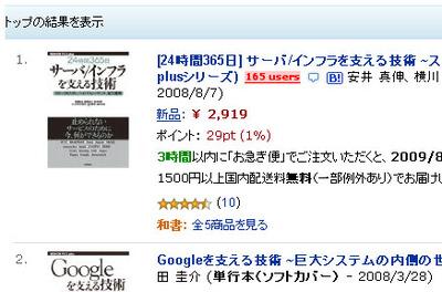 Amazonの検索結果のカスタマイズ例
