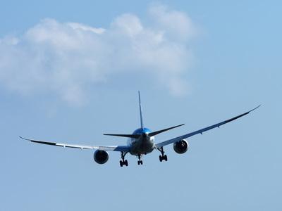 飛行機だけの写真