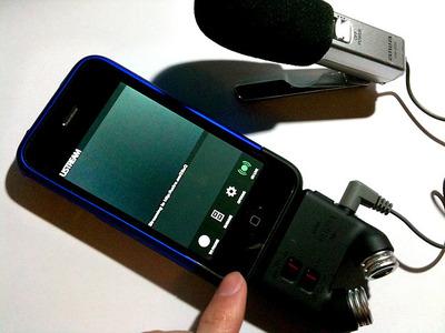 図9 マイクアダプタを装着して,Ustream Live Broadcasterを起動する