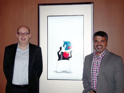米Oracle, Vice President, Software DevelopmentのBernard Traversat氏(左),米Oracle, Director, Java Product Management/Java Developer Relations/JavaOne Content ChairpersonのSharat Chander氏(右)
