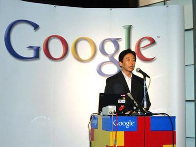 「Google 未来を選ぼう 2009」について発表したグーグル株式会社代表取締役社長 辻野晃一郎氏