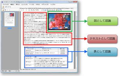 表,図や画像を自動的に判別してOCR認識