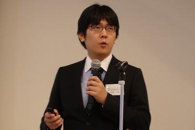 7月11日に行われた発表会で「Fluentd Enterprise」を紹介する米国Treasure Data CTOの太田一樹氏