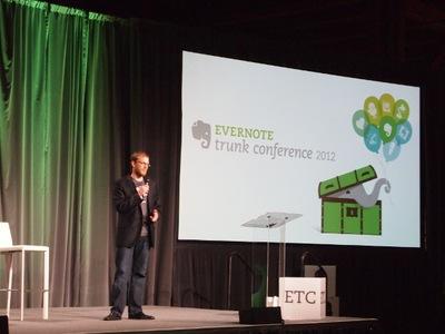 6チームのプレゼンの司会を務めたのは,Evernote VP Platform StrategyのSeth Hitchings氏