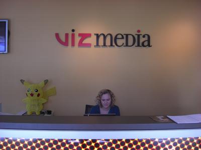 写真5:VIZ Media受付