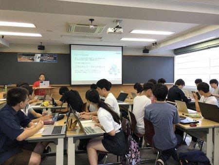 早稲田塾大崎品川校にて,第1講を行った
