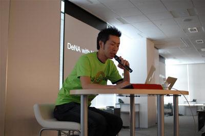 篠崎さんによるngCoreにおけるNode.jsの発表
