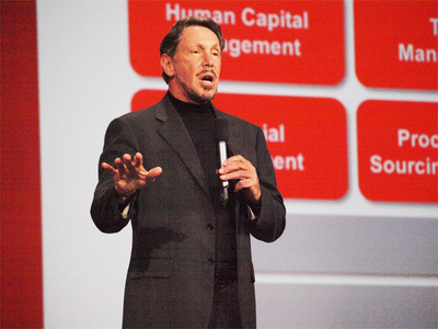 Oracle OpenWorldの主役,Larry Ellison CEO,異論は許さない