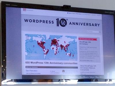 世界各地でWordPress10周年のお祝いが開催されている
