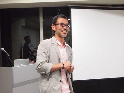 一般社団法人DCC代表理事の株式会社ドアズ代表 戸田克己氏。一般社団法人DCCは「おおさか地域創造ファンド」を活用し,新たなコンテンツビジネスに取り組む中小企業を支援する「コンテンツ企業『Osakaブランド形成』事業」を実施しています