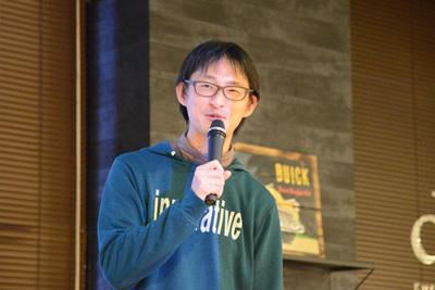 ぷらっとホーム 松下享平氏。松下氏は全体の司会も担当されました