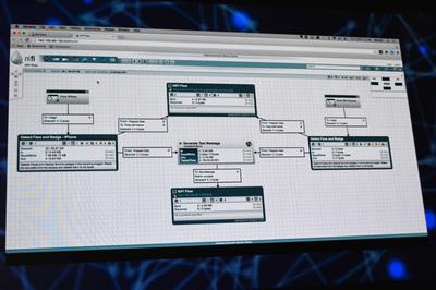 データオーケストレーションツールのApache NiFiはHDFのベースとなるプロダクト。データフローを最初から最後までデザインできるところが最大のポイントで,ストリームデータなど動くデータを扱うのに最適