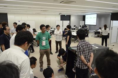 競技中,協賛企業の方々を対象に行われたNOCツアー