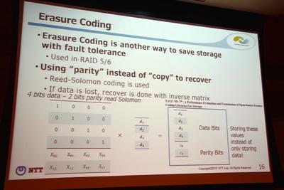 データのコピーではなくパリティを使ってリカバー