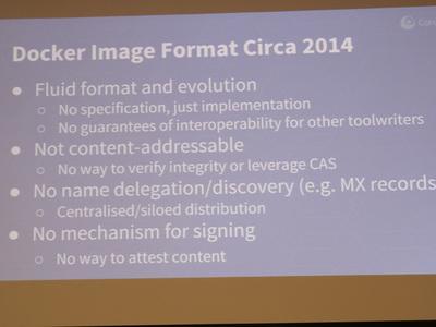 Dockerイメージフォーマットの問題点