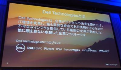 写真1 デルテクノジーグループ(Dell,EMC,Pivotal,RSA,SecureWorks,Virtustream,VMware)