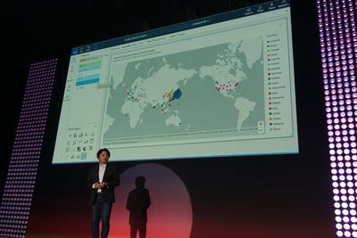QuickSightを使ったユーザの地域別アクセス分布の分析画面