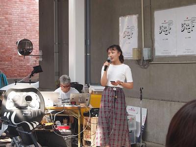 大手企業のWebCMや映画出演など,幅広いフィールドで活躍する女優の手島実優氏。「地元の前橋が好き」という想いとともに,自身が今,東京で活動している実績を前橋に持ち込むことで「東京と前橋をつなげて仕事をつくっていきたい」と前橋への郷土愛をアピールした