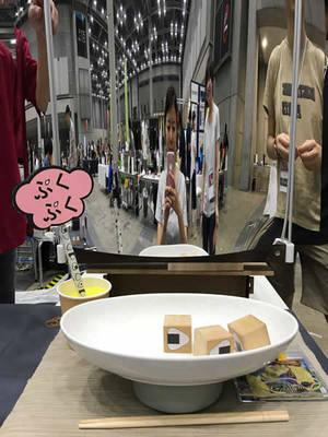 ご飯の量が少ないと鏡にはほっそりとした姿が