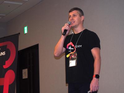 イベントのオープニングを務めたJetBrains VP Sales,Alexey Reshtenko氏