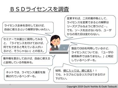 BSDライセンスを調査