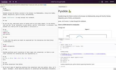 Pyodideのデモページ