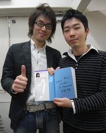 サイン会には,『アジャイルプラクティス』(オーム社)の角谷さんとの共同監訳者である木下史彦さんも参加してくださいました。