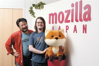 Firefoxのマスコット,フォクすけと一緒に