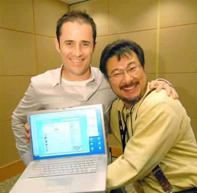 (左)Evan Williams氏,(右)小飼弾氏(撮影:平野正樹)